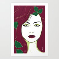 Nagel Style Poison Ivy Art Print