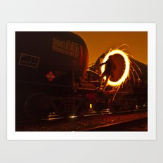 HIGHLY COMBUSTIBLE Art Print