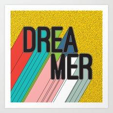 Dreamer Typography Color Poster Dream Imagine Art Print