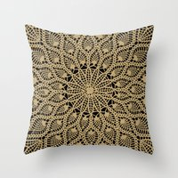 Delicate Golds Throw Pillow