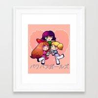 Framed Art Print featuring PowerPuff  by Mickey Spectrum