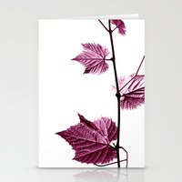 Wine Leaf Abstract I Stationery Cards