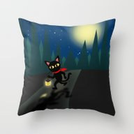 Throw Pillow featuring Walk In The Night by BATKEI
