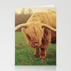Scottish Highland Steer - regular version Stationery Cards