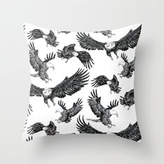 Eagles Pattern Throw Pillow