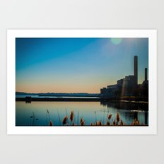 Salem Power Plant  Art Print
