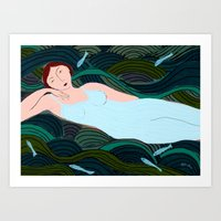 Lady of the Waves Art Print