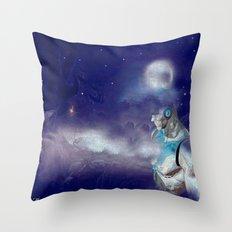 Man Cyborg Machine Throw Pillow