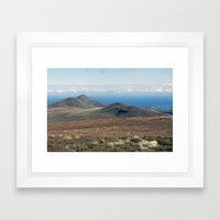 North Barrule and Maughold Head Framed Art Print