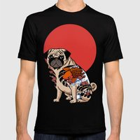 Yakuza Pug Mens Fitted Tee Black SMALL
