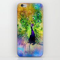 Jazzy Peacock Colorful Bird Art by Jai Johnson iPhone & iPod Skin