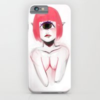 iPhone & iPod Case featuring Pink Cyclops by Thais Magnta Canha