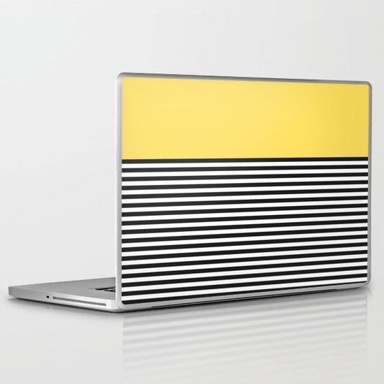 STRIPE COLORBLOCK {LEMON} Laptop & iPad Skin