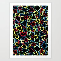 Primary Shapes Art Print