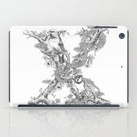 Letter 'X' Monochrome iPad Case