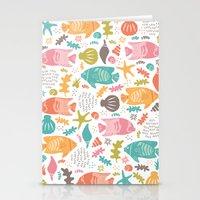 Retro Fish Stationery Cards