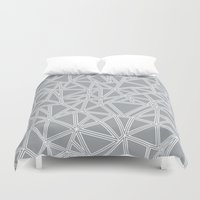 Shattered Ab Grey And Wh… Duvet Cover