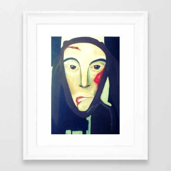 the boy in the rabbit suit Framed Art Print