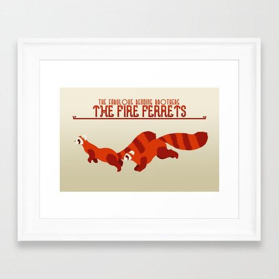 The Fire Ferrets Framed Art Print