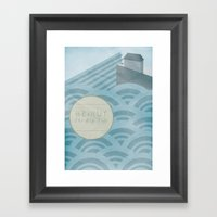 The Rip Tide Framed Art Print