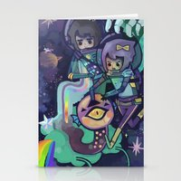 Space Worm Stationery Cards