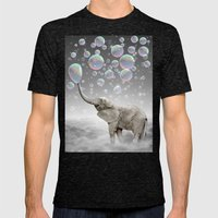 The Simple Things Are the Most Extraordinary (Elephant-Size Dreams) Mens Fitted Tee Tri-Black SMALL