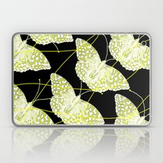 Butterflies on black background Laptop & iPad Skin