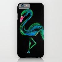 Flamingo black iPhone 6 Slim Case