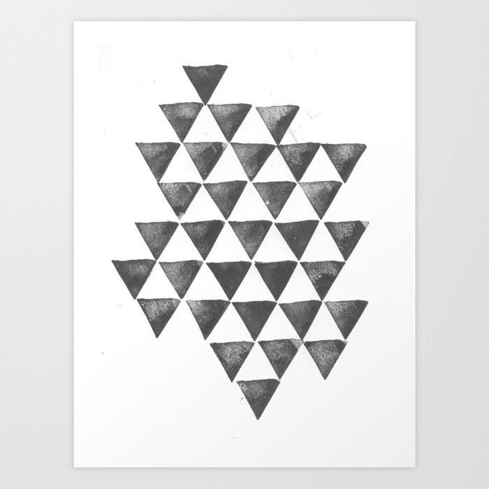 Sunday's Society6 | Black and white geometric triangle pattern