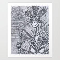 Blind Sensibility (Sketch) Art Print