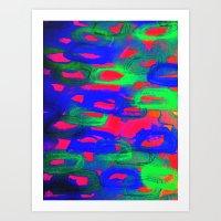 NIGHT LIFE - Bold Neon A… Art Print