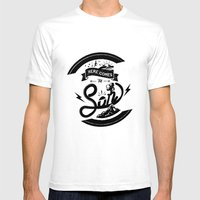 Here Comes The Son Mens Fitted Tee White SMALL