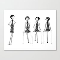 Eloise was never very good at musical chairs Canvas Print