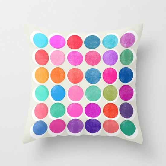 colorplay 7 Throw Pillow