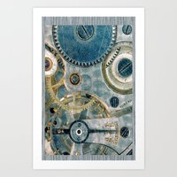 iPhone Gears Art Print