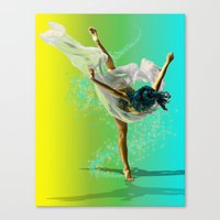 There Was A Ballerina Canvas Print