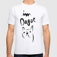dogue french bulldog Mens Fitted Tee Ash Grey SMALL