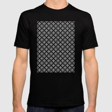 Black Kawung Pattern Mens Fitted Tee SMALL Black