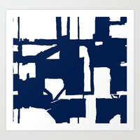 Navy City Art Print