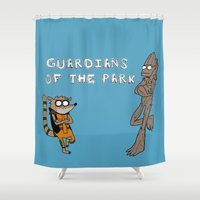 Guardians of the Park Shower Curtain