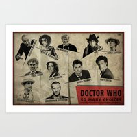 So Many Choices (Doctor … Art Print