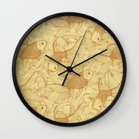 Vintage Goldfishes II Wall Clock