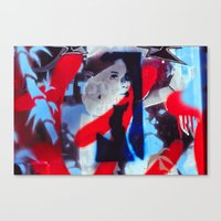 Blue And Red Canvas Print