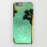 iPhone & iPod Case featuring Palm Trees Heart Bokeh by Ginger Mandy