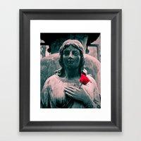 Cemetery Love Framed Art Print