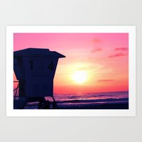 Mission Beach Sunset Art Print