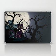 Vintage Halloween Cemetery Cat Laptop & iPad Skin