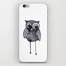 The Friendly Owl - White Background iPhone & iPod Skin