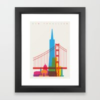 Shapes Of San Francisco.… Framed Art Print
