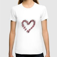heart Womens Fitted Tee White SMALL